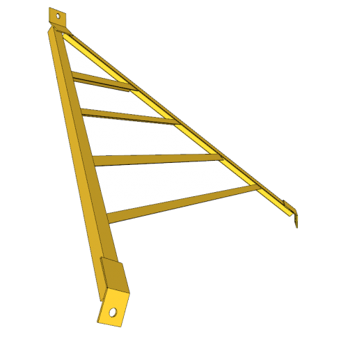 CATTLEGUARD WING 7 ft - 1 in C/C - YELLOW