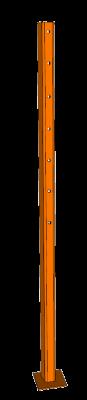 Cattle Guard Wing Post - Steel