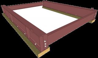 Steel/Timber BLM Base - Primed (Pair)