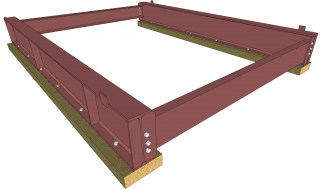Steel/Timber USFS Base - Primed (Pair)