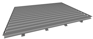 Gray Army Corps of Engineers Cattle Guard