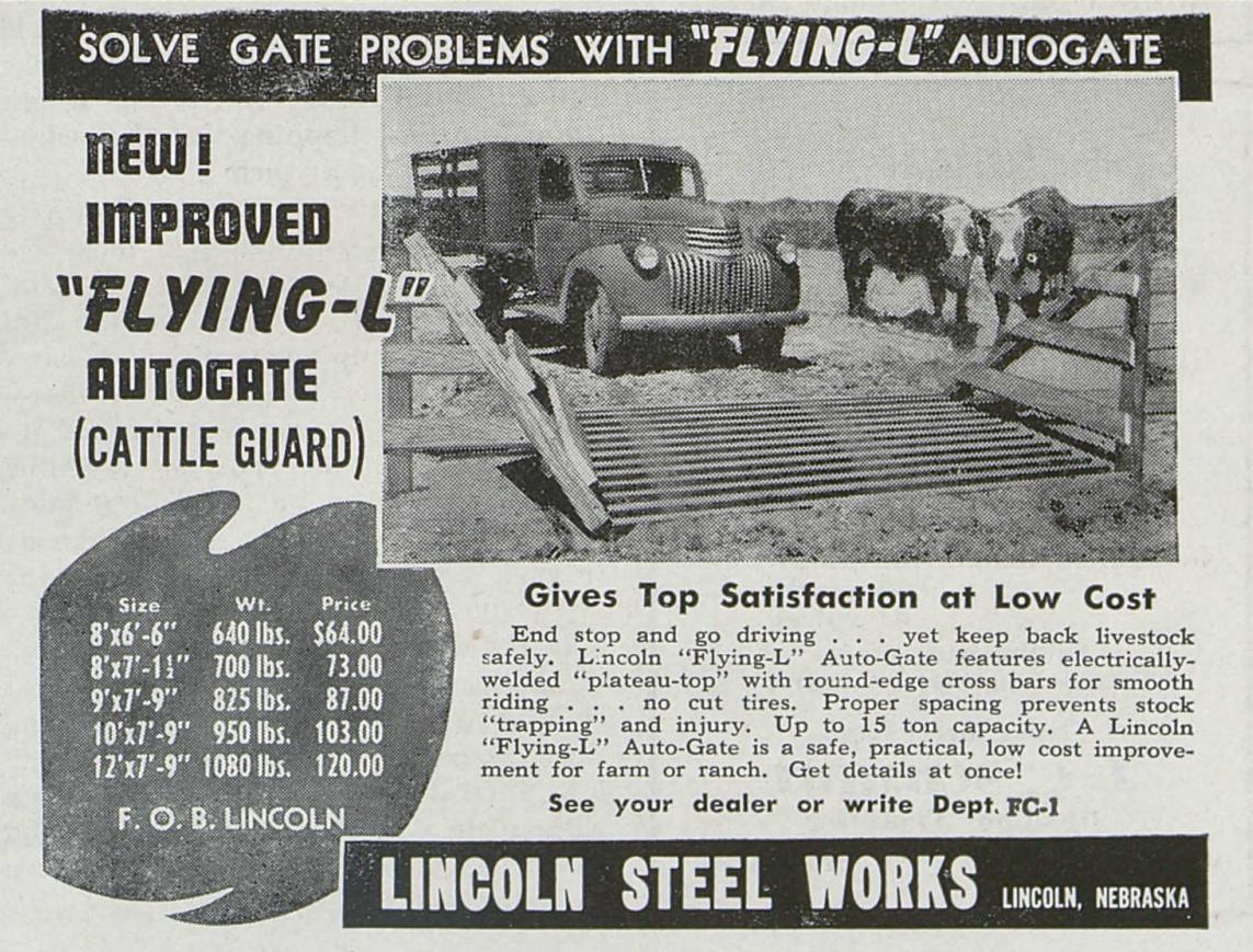 Flying L Autogates 1949